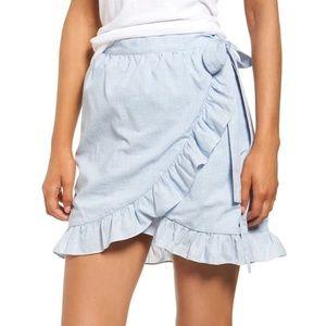 Madewell Blue Cotton Meadow Wrap Skirt - 8